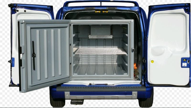 58e7caa67c34af Auto Extras now offers a cost efficient and practical solution for van  refrigeration. The Cool Container is a modular 850 Lt cube that is secured  into the ...